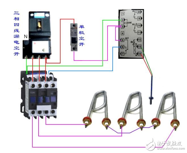 温控器接线图及原理图