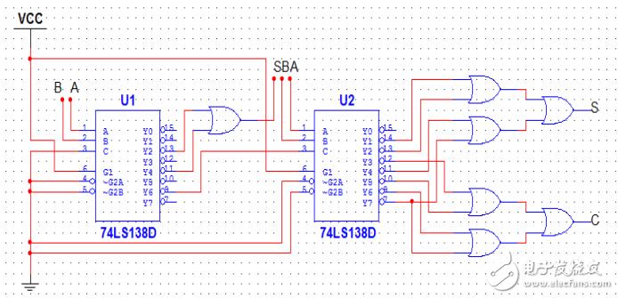 用74ls138设计全加器 - 数字电路图 -唯样商城