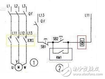 5线光电开关与接触器接线图