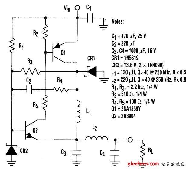 低成本降压型调节器电路
