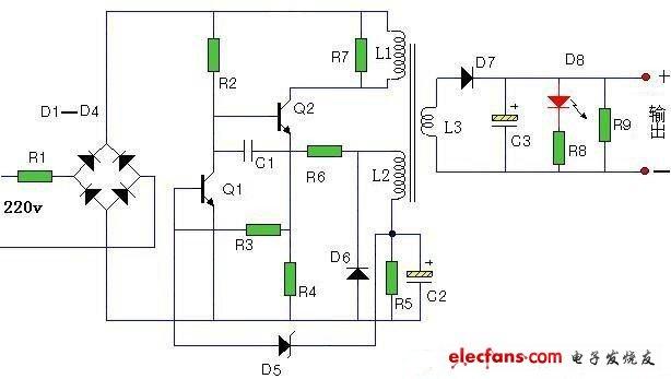 手机电池充电器电路图讲解 - 消费类电子电路图