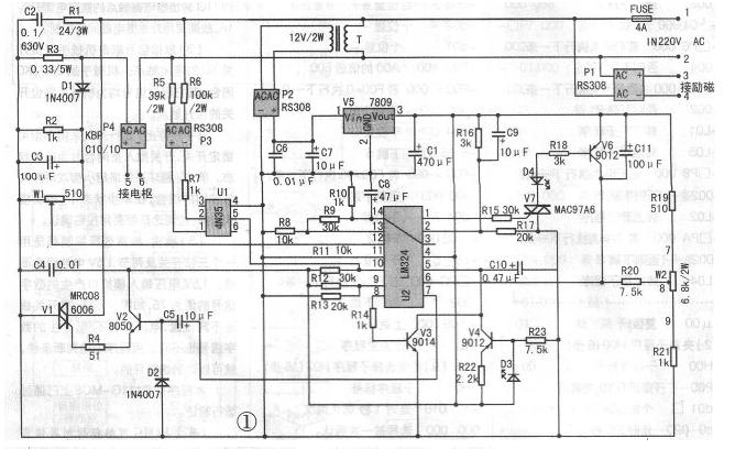 直流电机调速器电路图 - 电动机控制电路图