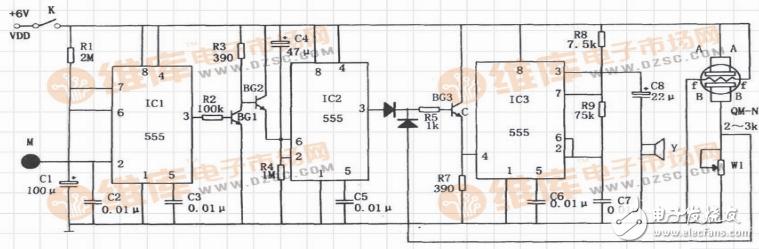 555报警器电路原理图(八款模拟电路设计原理图详解)