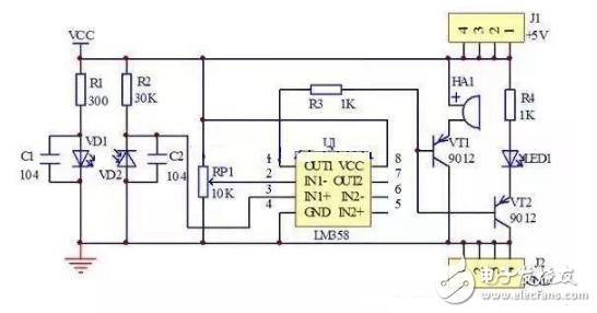 蜂鸣器报警器电路图大全(五款模拟电路设计原理图详解)
