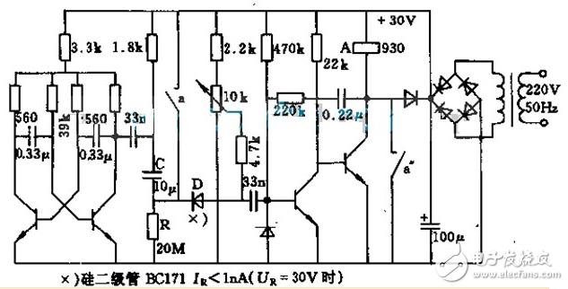 继电器开关电路图大全(光控开关电路/时间继电器/单稳