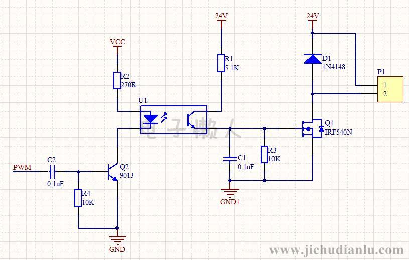 电磁阀pwm驱动电路的效果图演示_基础硬件电路图讲解图片