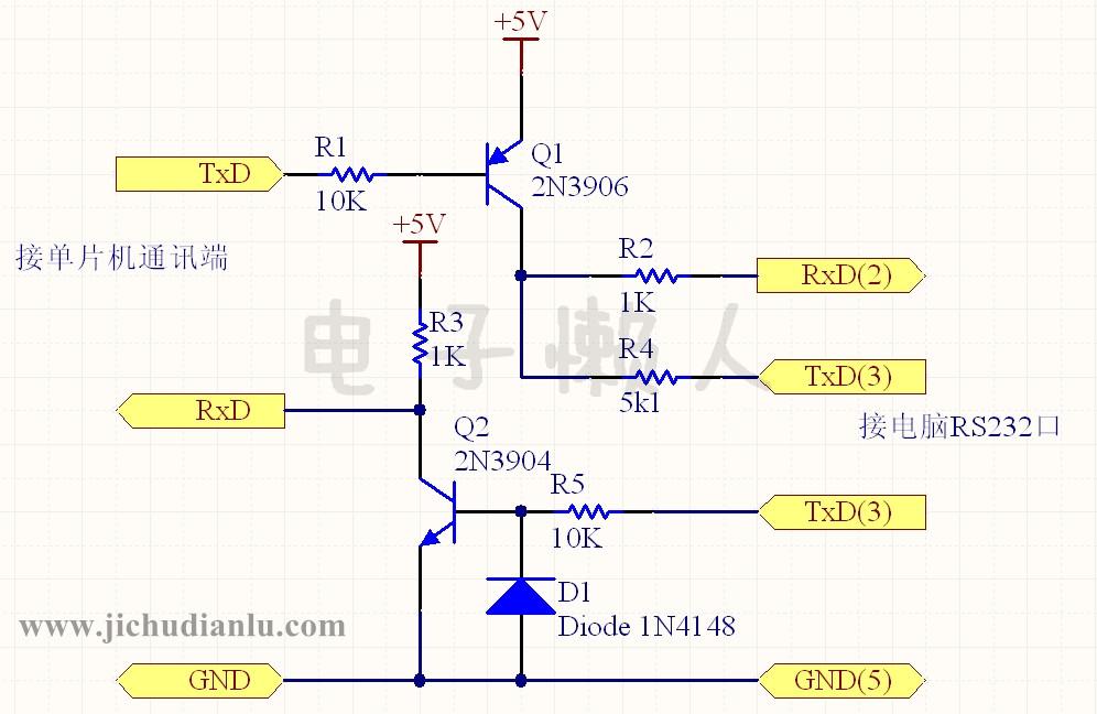 两例简单的rs232与ttl电平转换电路的效果图演示_基础