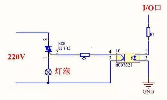 如何用单片机控制220V交流电通断电?